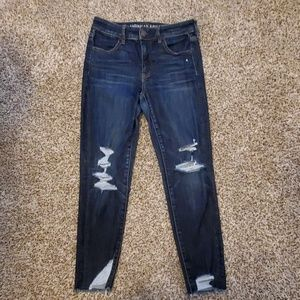 High-Rise Jegging Crop Jeans